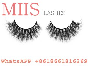 mink lashes with eyelash packaging